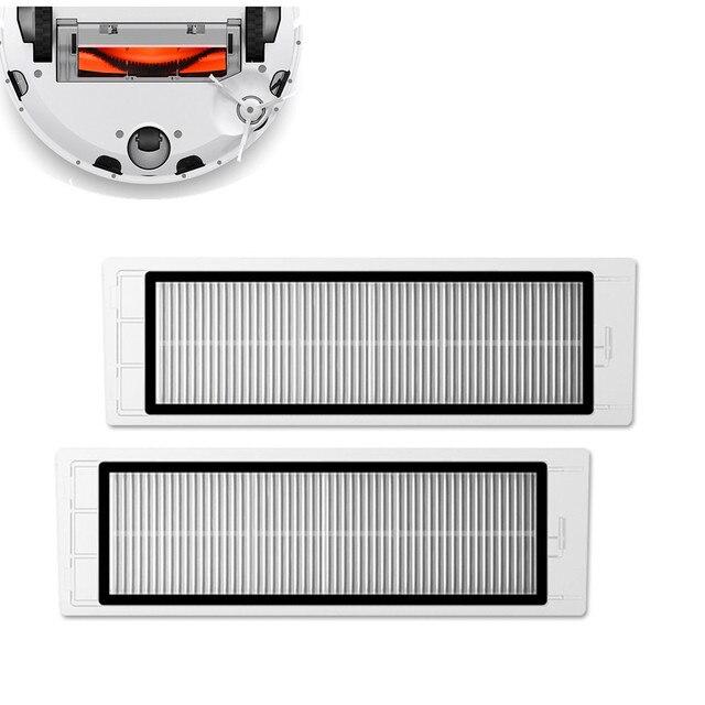 2 adet elektrikli süpürge parçası yedek filtre ekranı süzgeçler XIAOMI Mi robotlu süpürge yedek filtre ekranı