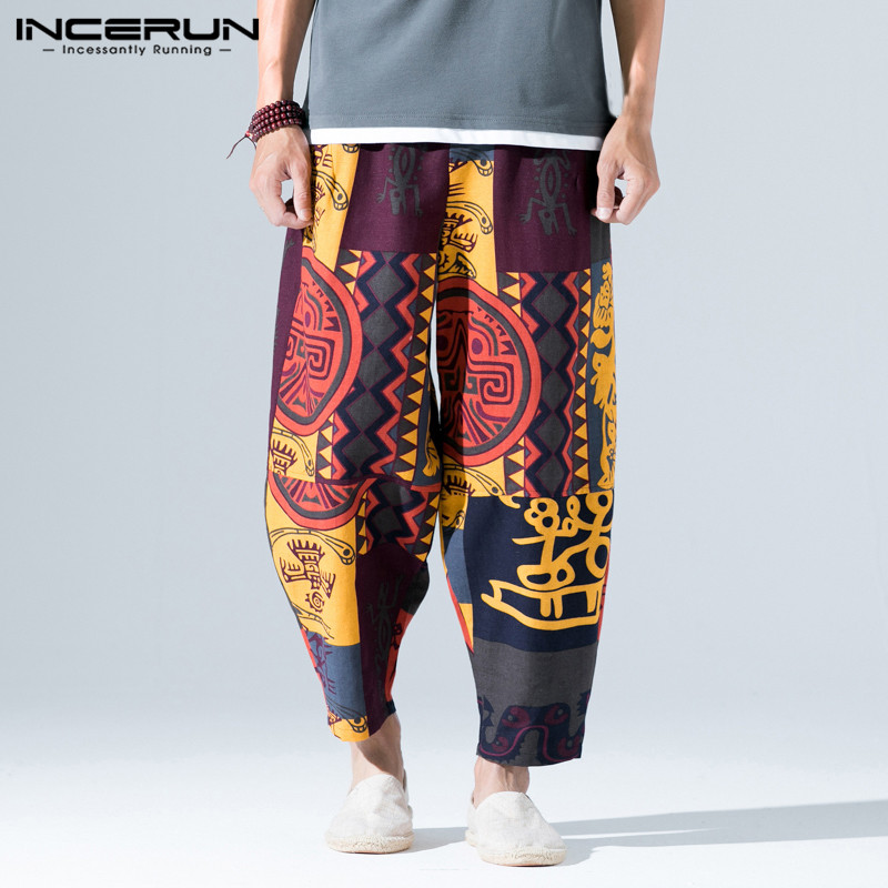 Ethnic Nepal Wide Legs Pants Men Women Haram Pants Baggy Loose Fitness Dance Hiphop Trouser Hiphop Pantalon Sweatpants Hombre