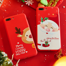 ASINA Santa Claus Case For iPhone 7 Christmas Elk Cover 8 Plus 10 X XR XS Max Silicone Bumper Fundas Gift