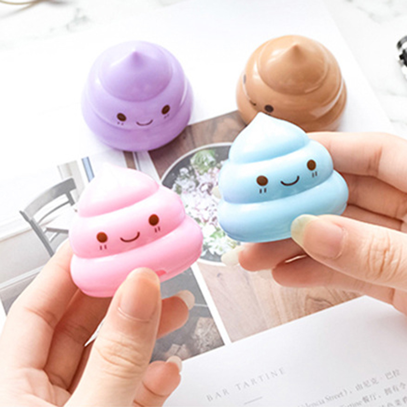 Cute Shit Shape Pencil Sharpener Cartoon Cutter Knife Double Orifice Pole Piece Kids Gift Promotional Items Korean Stationery Possessing Chinese Flavors