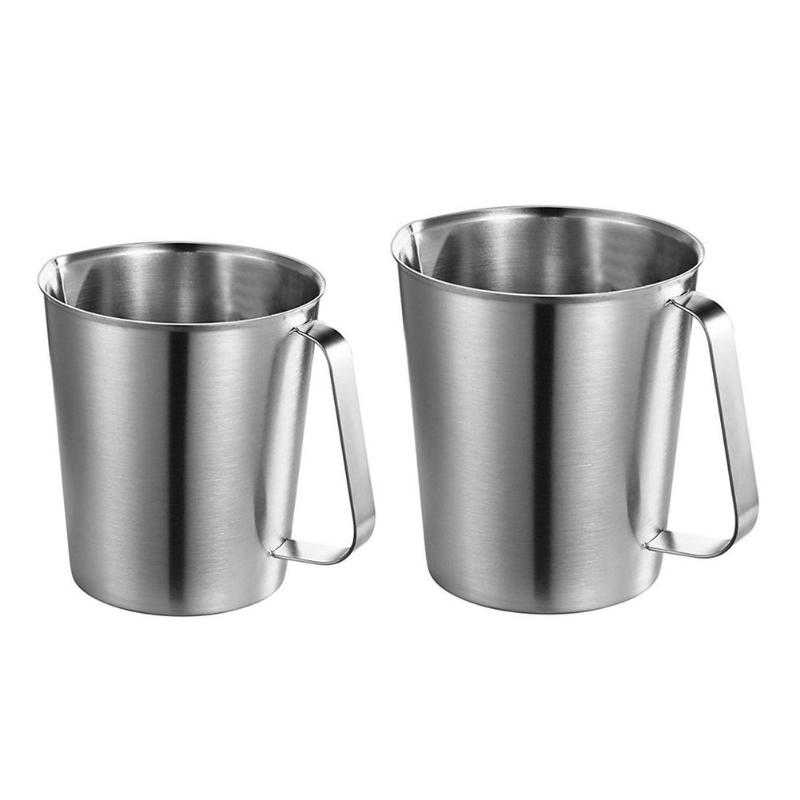 500ml/700ml Stainless Steel Measuring Cup Thicker Graduated Baking Liquid Milk Coffee Mug Kitchen Gadgets