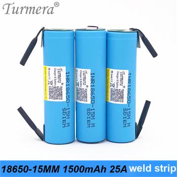 Oryginalna bateria 18650 15M inr18650-15MM 1500mah 25A do baterii śrubokrętu i shura shurik do Turmera a15 tanie i dobre opinie INR18650-15MM 1500mah battery + welding 1500 mAh Li-ion Baterie Tylko 1 2 3 4 5 6 10 INR18650-15MM welding Pakiet 1 INR18650-15MM 1500mah welding strip