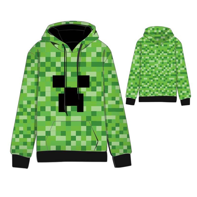 Hot  Anime  Minecraft Steve Creep Cosplay Hoodies Standard Hooded   Winter  Tops Unisex Creeper funny Sweatshirts jung kook bts persona
