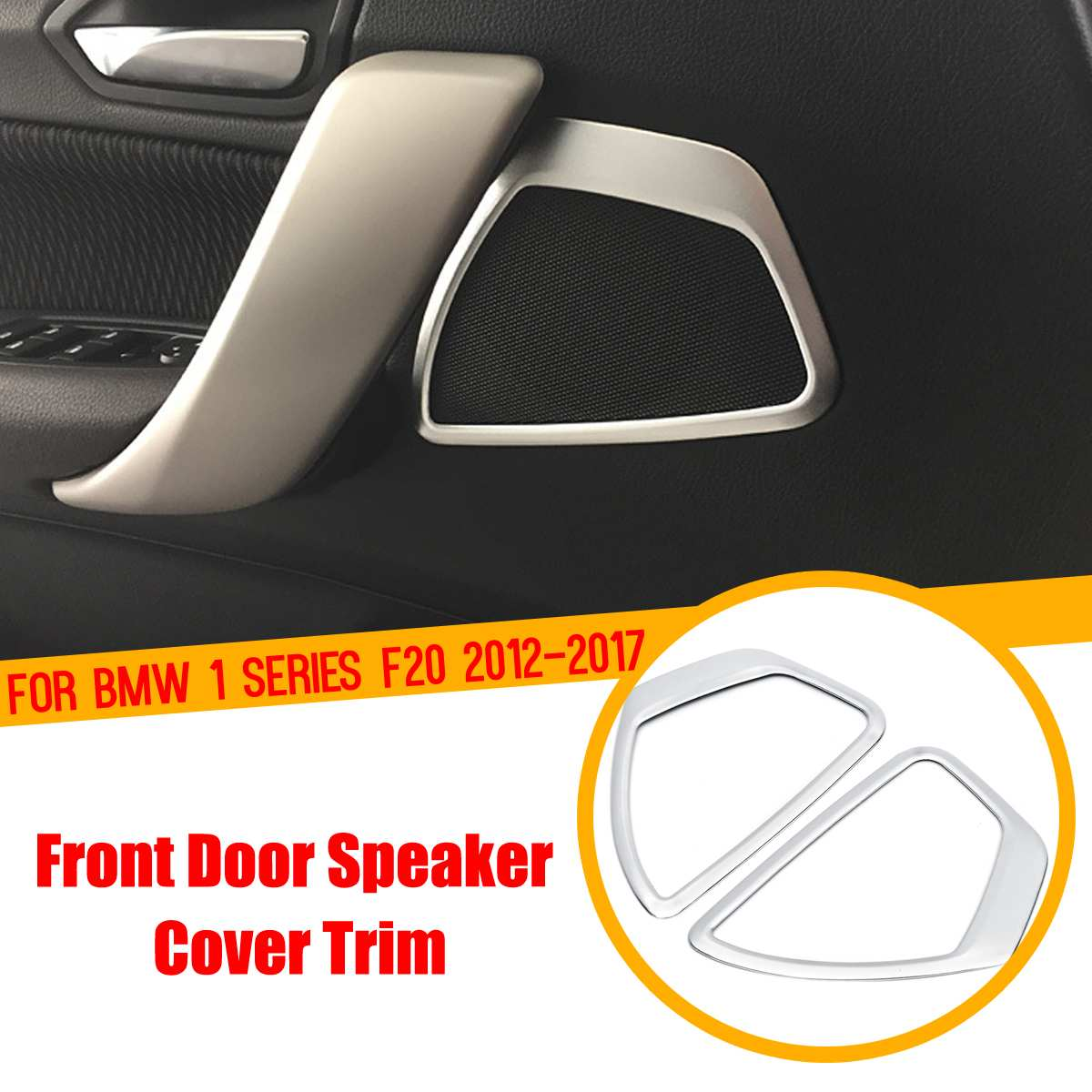 For BMW 1 Series F20 2012 2017 Stainless steel Car Front Door Audio Speaker Strip StereoDecal