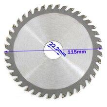 1 шт., 115 мм, 40 зубьев, дисковая пила для резки дерева, деревообрабатывающий диск для углового шлифовального станка, дисковая пила для резьбы по дереву