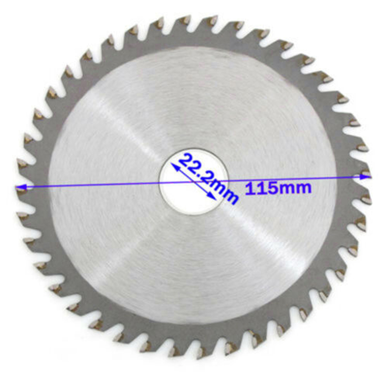 4.5/5 Inch 115/125mm 40 Teeth Wood Carving Disc Circular Saw Blade Disc Cutter Metal Plastic For Angle Grinder For Metal Cutting