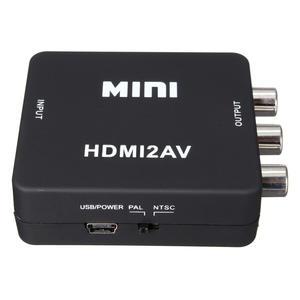 Adapter Av-Converter-Box Composite VCR 3RCA Mini Hdmi Scaler Video for TV PS3 VHS DVD