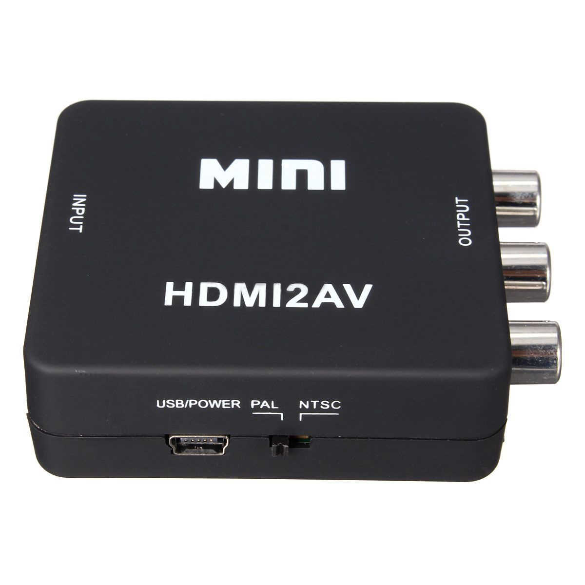 Мини HDMI к 3RCA CVBS композитный видео AV конвертер адаптер для ТВ PS3 VHS и VCR DVD черный
