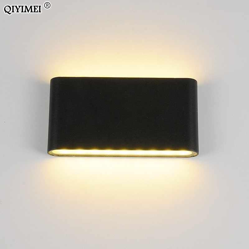 6 Вт/12 Вт светодиодный уличные настенные фонари водонепроницаемые белые/черные лампы Крытый светодиодный лестничный свет освещение коридора для прикроватных огней светильники