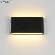 6W/12W LEDกลางแจ้งโคมไฟกันน้ำสีขาว/สีดำหลอดไฟLEDบันไดทางเดินสำหรับข้างเตียงติดตั้ง