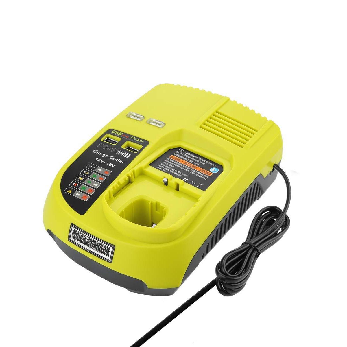 OPQ-3A 12 V 14.4 V 18 V pour Ryobi P117 chargeur de batterie Rechargeable batterie Pack outil électrique ni-cd Ni-Mh Li-Ion P110, P111, P107, P