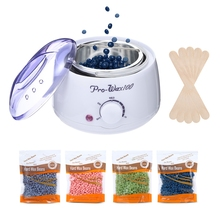 Hair Removal Electric Wax Warmer Machine Heater with Beans Applicator Sticks Waxing Kit недорого