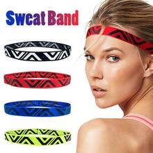 Yoga Hair Ribbon Hollow Out Sweat Bands Breathable Sweat-absorption Anti-slip Comfortable Sport Hairbands For Men And Women