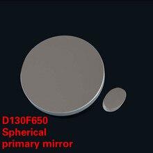 Grupo de lentes objetivo de espejo primario D130 F650, con espejo secundario para telescopio Monocular astronómico de reflexión newtoniana