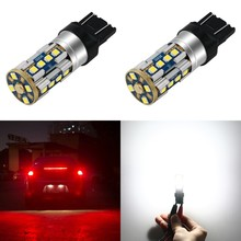 1 Piece P21W Led 1156 1400LM P21/5w 7443 W21W Car LED Bulb T20 W21/5W 7440 Bay15d Auto DRL SMD White Amber Stop Reverse Light