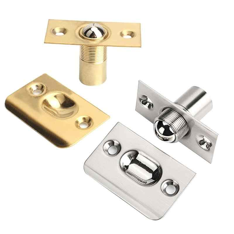New Spring Invisible Wooden Cabinet Door Beads Lock Closet Ball Catch Latch Catcher Stainless steel material Door Beads Lock hot