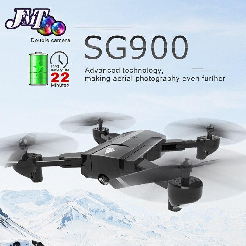 Oyuncaklar ve Hobi Ürünleri'ten RC Helikopterler'de SG900 Drone Çift Kamera HD 720P Profesyonel FPV Wifi RC Drone Sabit Nokta Irtifa Tut Beni takip Dron Quadcopter'da  Grup 1