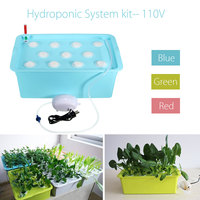 NEW 1 Sets 11 Holes Plant Site Hydroponic System Grow Kit Garden Soilless Cultivation Plant Seedling Grow Planters Nursery Pots