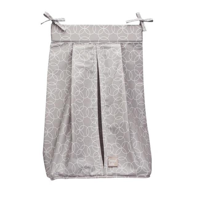 Trend-Lab 100471 Circles Gray Diaper Stacker