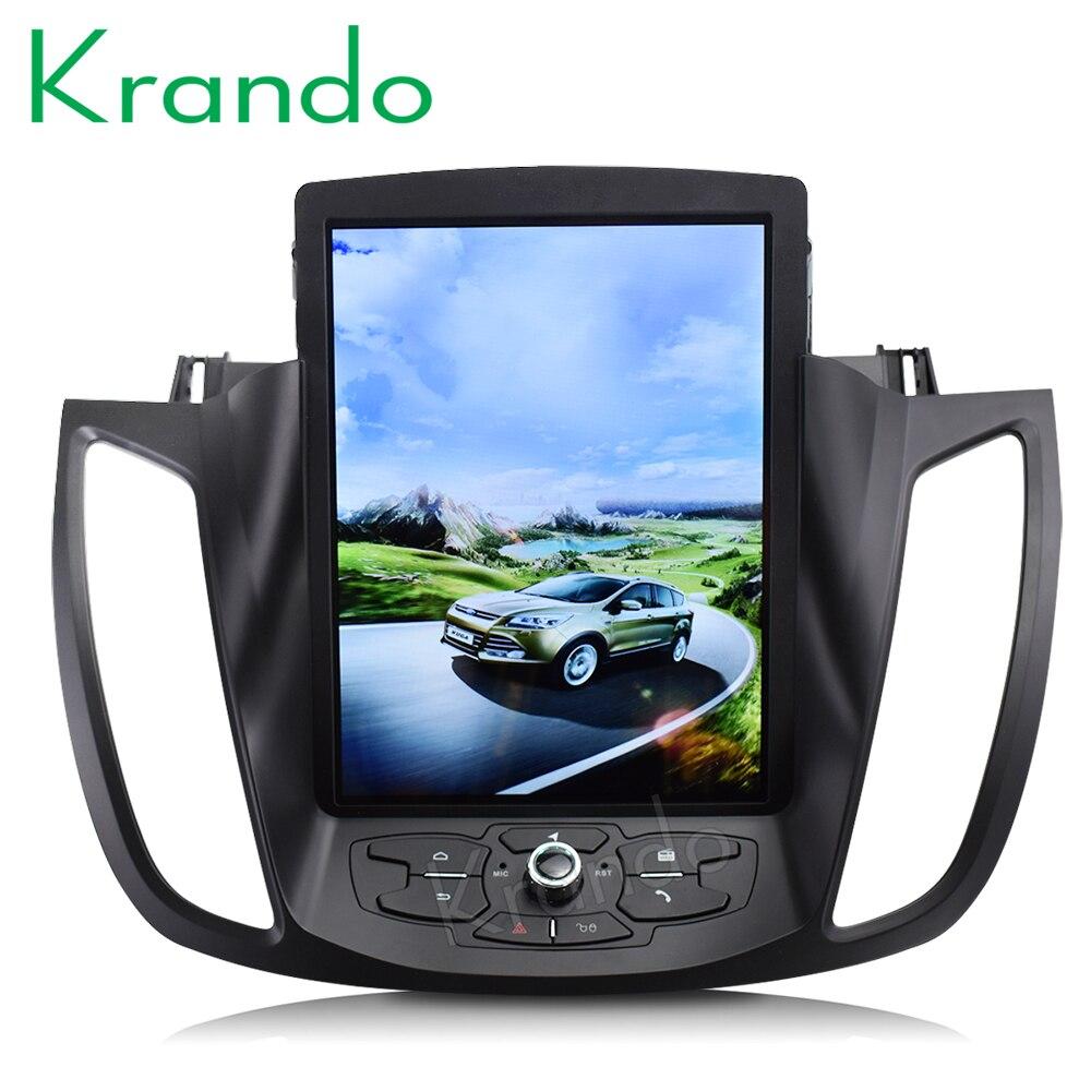 Krando Android 8 1 10 4 Tesla Vertical car radio gps multimedia player for ford Kuga