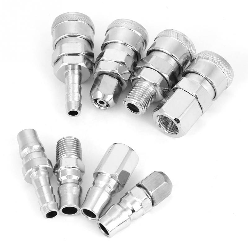 "Pneumatic Quick Fittings,Release Plug,Socket Connector Set for Air Compressor Hose 8Pcs 1//4/"" Quick Fitting,Quick Fitting Connector"