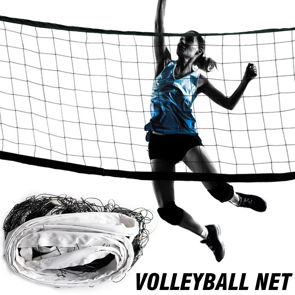 Portable Volleyball Net Four Sided Thickened Canvas Edging Pe Durable Standard Volleyball Net For Competition Training Practice