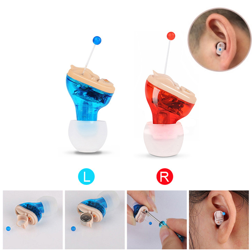 Hearing Aids Mini Size Inner Ear Invisible Hearing Aid Adjustable Wireless Ear Best Sound Amplifier Left