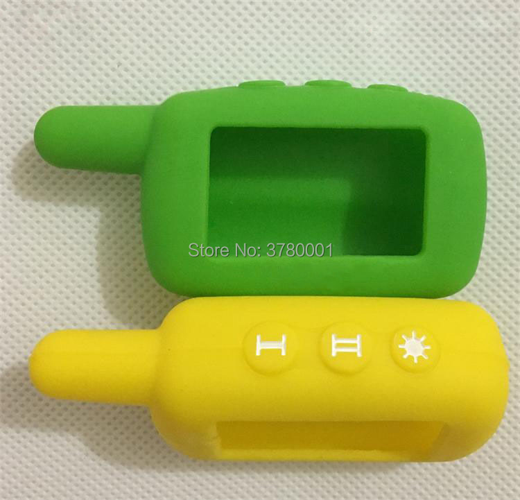 A9 Silicone Cover Key Case For 2 Way Car Alarm System Starline A6/A9/A4/A8 Lcd Remote Controller Key Fob Chain