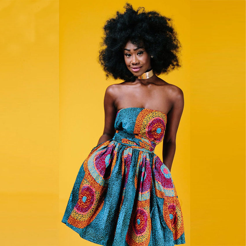 Latest Fashion V-neck Woman African Style Dress Pleated Bazin Riche Shoulder Off Bandage Dress with Bow Tie Night Bar Pub Wear