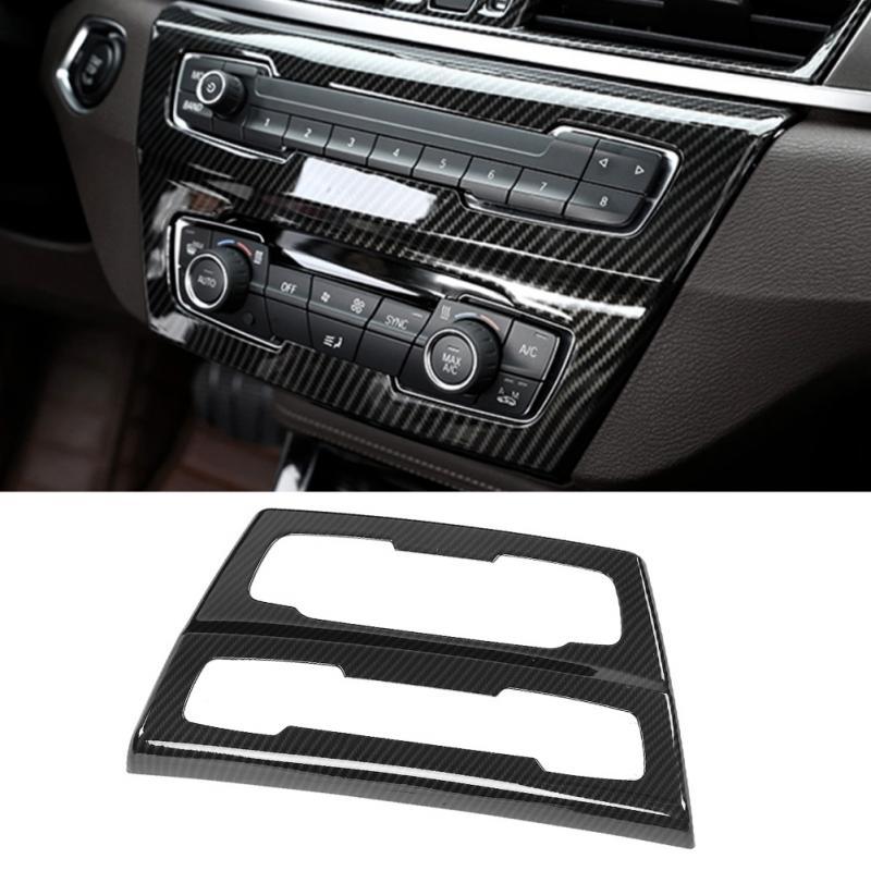 Carbon Fiber Style Car Interior Center Console CD Panel Trim For BMW X1 F48 2016 2017 2018 2019 Car Accessories