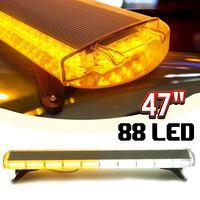 88W Car LED Flash Emergency Warning Light 88LED Strobe Flash Light Amber/White Polices Car Double Sided Warning Lamp Assemblly