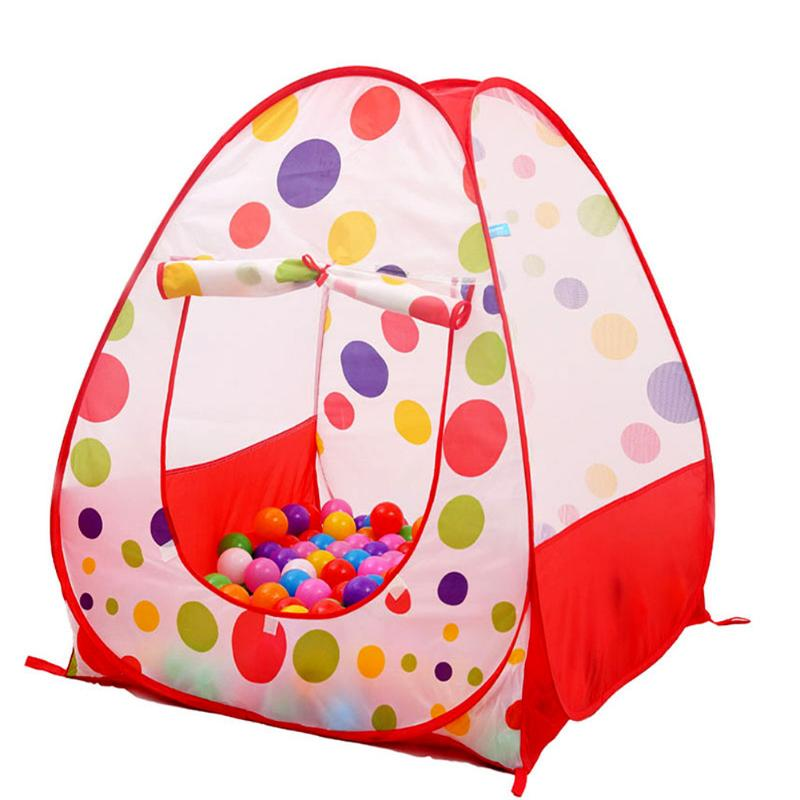 Children's Tent Ball Pool Playhouses For Kids Baby Play Inflatable Pool Folded Portable Kids Outdoor Game in Play Tent for Kids image