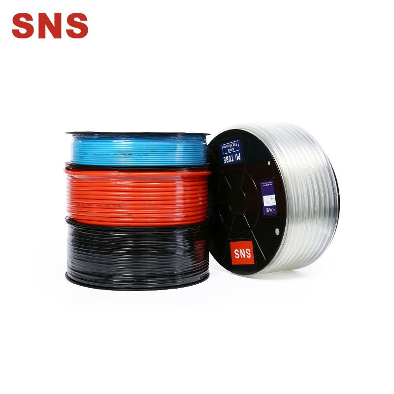 SNS Пневматический PU Воздушная трубка шланг воздушный шланг для трубопровода или перекачка жидкости пневматические трубки