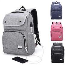 Купить с кэшбэком Male Shoulder Bag USB Charging Oxford Backpack Female Waterproof Large Capacity Students Computer Laptop Backpack Travel Bags