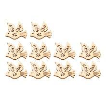 10 шт деревянные части голубь мира в форме ручной работы деревянные части декор подвесной декор для сумки дома