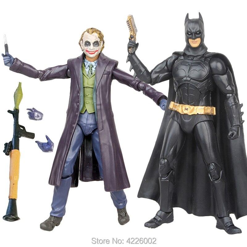 Heath Ledger Coringa Escuro Kight Modelo Batman Ação PVC Figuras vilão Colecionáveis Estatueta Boneca Kids Brinquedos para Crianças Meninos Presente