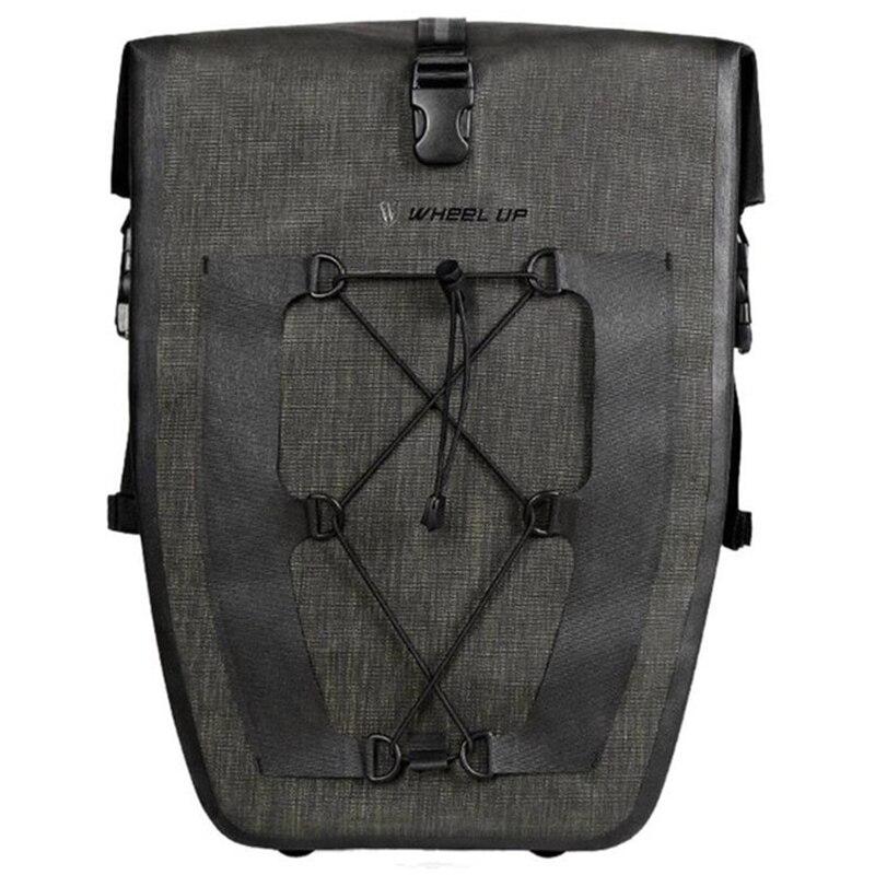SEWS WHeeL UP 27L Waterproof Mountain Bike Rear Rack Bag Tail Seat Trunk Pannier Bag Large