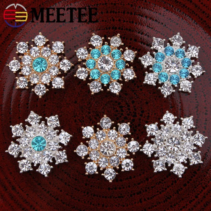 Meetee 10pcs/20pcs 25mm Metal Rhinestone Drill Buckle Headwear Alloy Buttons Diy Bag Garment Jewelry Decoration Accessory Bd454 Dependable Performance Home & Garden Buckles & Hooks