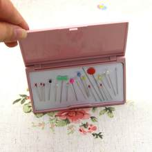 1Pcs Magnetic Needle Storage Box Manual DIY Inserting Needle Plastic Needle Embroidery Rectangle Organizer Display Container(China)