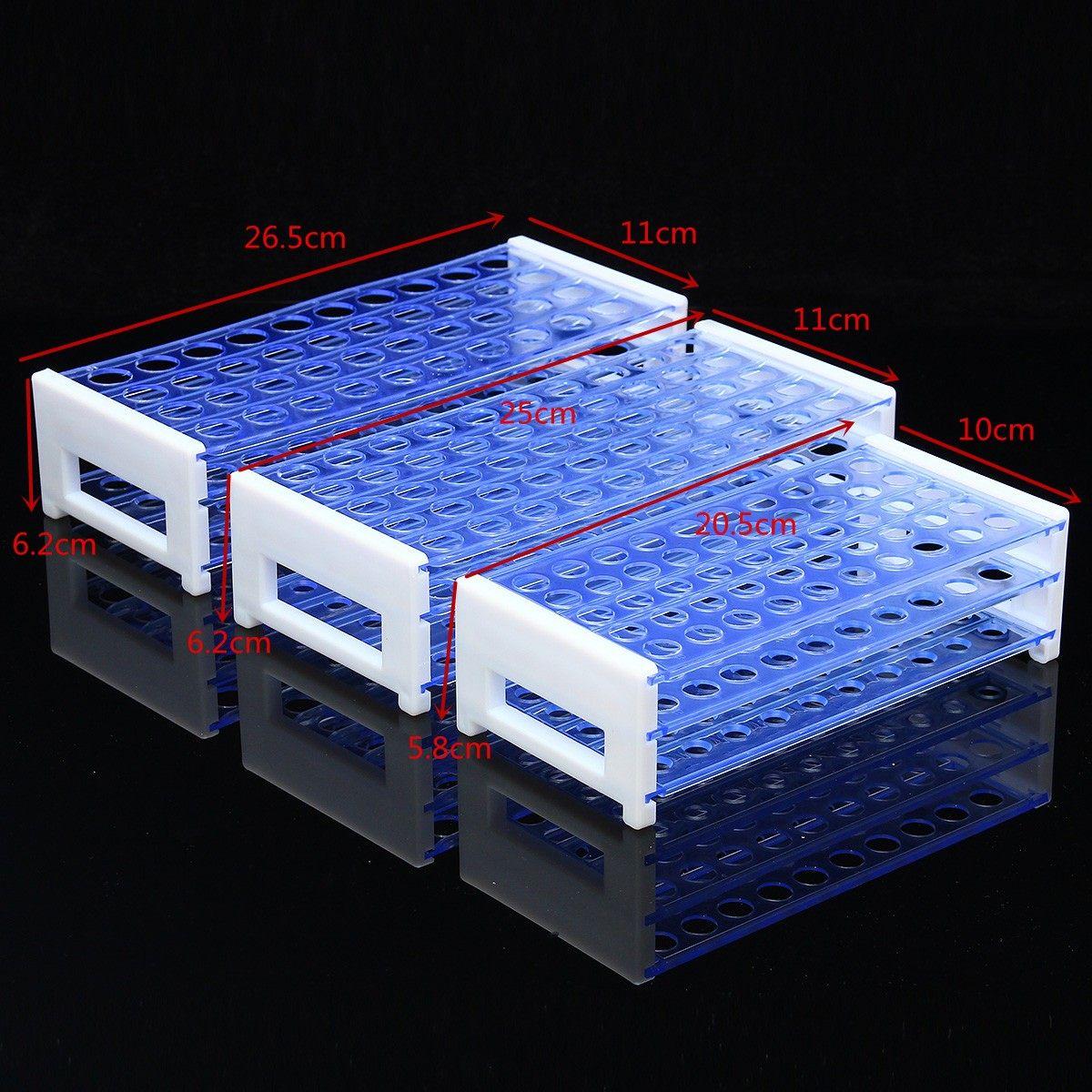 Laboratory Plastic Test Tube Rack Holder Stand For 8-18MM Test Tubing Racks Shelf For Centrifuge Tubes 40 Or 50 Holes Positions