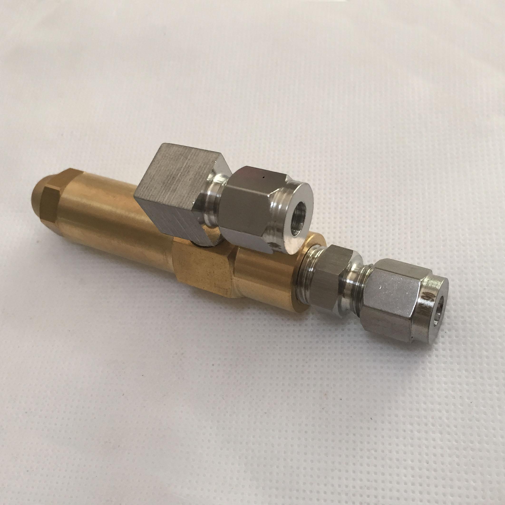 1.0/1.5/2.0 buse de carburant siphon buse d'atomisation d'air buse à deux fluides diesel huile lourde huile usée à base d'alcool buse de brûleur de carburant