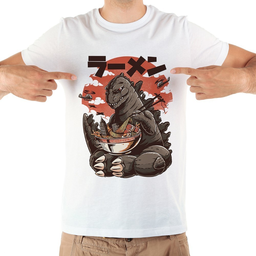 Kaiju Lizard Funny Manga Tshirt Men 2019 Summer New Short Sleeve Casual Cool Japan Anime T Shirt Homme