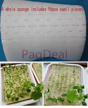 100pcs Cultivation Seedlings Vegetables Plant Nursery Sponges Soilless Hydroponics Sponge Home Garden Supplies