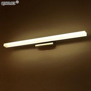 Image 4 - Led ayna hafif paslanmaz çelik AC85 265V Modern duvar lambası banyo ışıkları 40cm 60cm 80cm 100cm 120cm duvar aplikleri aplikler