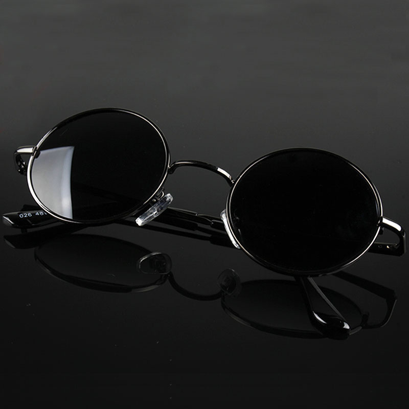 Aoron Retro Classic Vintage Round Polarized Sunglasses Men Brand Designer Sun Glasses