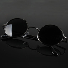 Retro Classic Vintage Round Polarized Sunglasses Men Brand D