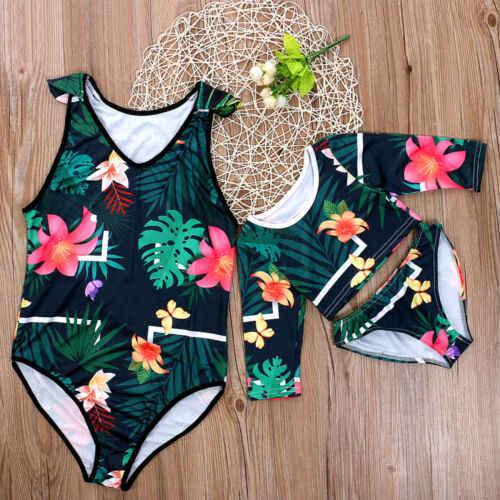 e9c9c780d2 ... 2019 New Summer Family Siamese Swimwear Bikini Dad Son Mom Daughter  Matching Beach Women Men Boy ...