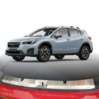 For Subaru XV 2017 2018 Stainless Steel Rear Trunk Pad Fender Interior Central Control Sticker Cover Trims Car Styling Accessory