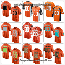 0bef1170a07 Custom Orange Mesh DIY OEM Your Own Football Jersey Embroidered High School  College Team Logo Name