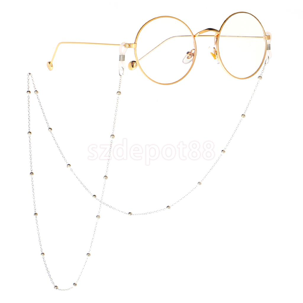 Metal Eyeglass Sunglasses Holder Retainer Eye Glasses Neck Cord Chain String Necklace Clothing Accessory